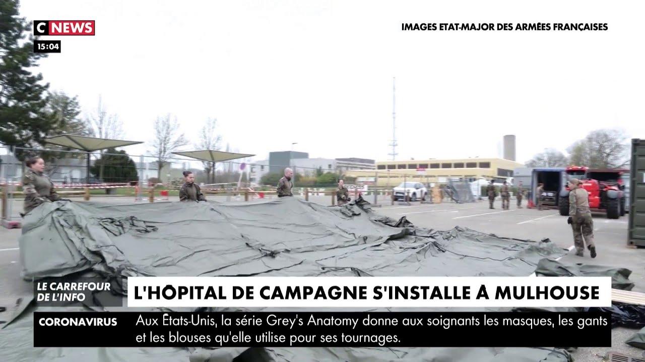 Coronavirus : l'hôpital militaire se construit à Mulhouse