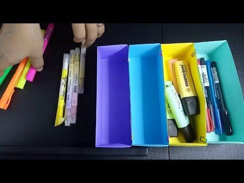 DIY RECTANGULAR DESK ORGANIZER MADE OF PAPER
