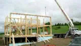 This Video Is Unavailable.     Vermont Salt Box Timber Frame Raising
