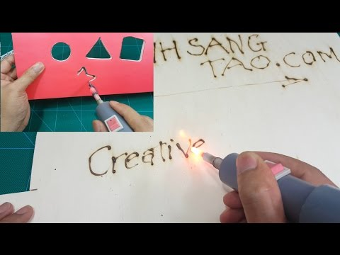How to make a Foam Cutter Pen, Pyrography Tool 2 in 1