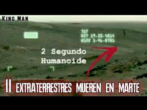 En Marte graban la muerte de 2 seres  extraterrestre junto a extraño objeto y agua