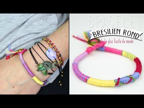 Bracelet bresilien rond twist