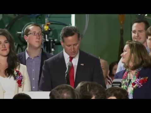 Rick Santorum announces his run for president in Pennsylvania