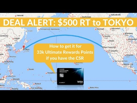 Chase Ultimate Rewards: Booking a Trip to Tokyo w/ Chase Sapphire Reserve