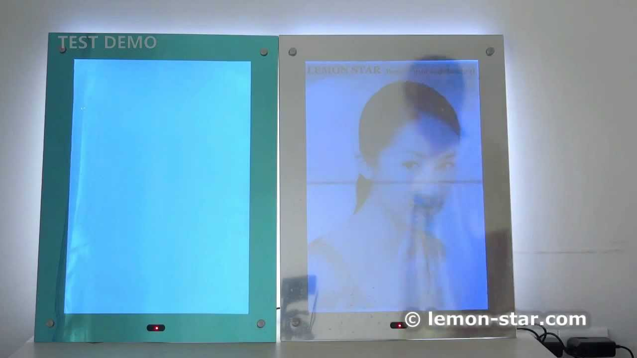 Led Magic Mirror Lightbox Display Demo Inductive Frame