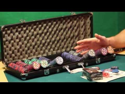 Набор для покера - STARS 500 фишек - видеообзор покерного набора от SpacePOKER