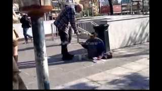 """leggless beggar walks """"by miracle"""" in Athens !"""