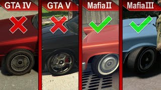 THE BIG COMPARISON | GTA IV vs. GTA V vs. Mafia II vs. Mafia III | ULTRA