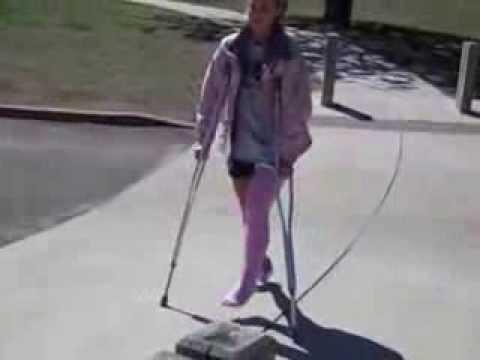 Hot girl slc crutching - 1 part 3