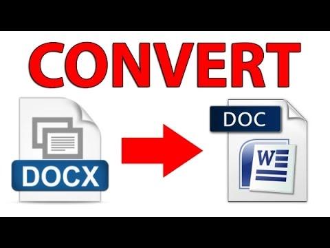 Быстрая конвертация документов из .docx в .doc