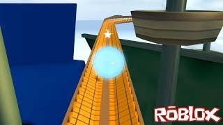 We became marbles and went all the way to the end of the road! - Roblox Ultimate Marble Rider with Panda