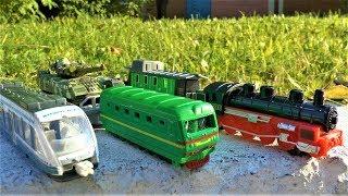 Игрушки для мальчиков Поезд Трамвай и Паровоз технопарк для детей
