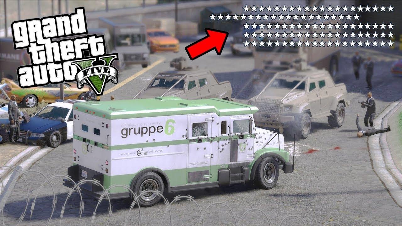 50 ESTRELLAS POR ROBAR EL BANCO de GTA 5  - Grand Theft Auto V - GTA V MODS|EdgarFtw