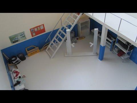 Видео Масштабный Гараж сделанный Своими Руками | Тюнинг Масштабных Моделей