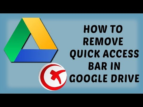 How To Remove Quick Access Bar in Google Drive | Turn Off Quick Access From Google Drive - Hindi