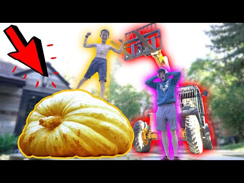 WE BOUGHT THE WORLD'S BIGGEST PUMPKIN! (AGAIN) **2,200 pounds**