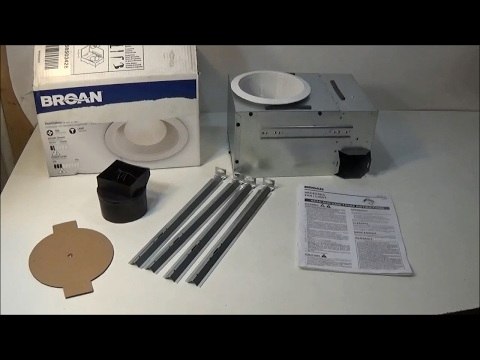 broan nutone 744 recessed can light with fan combo review - youtube  youtube