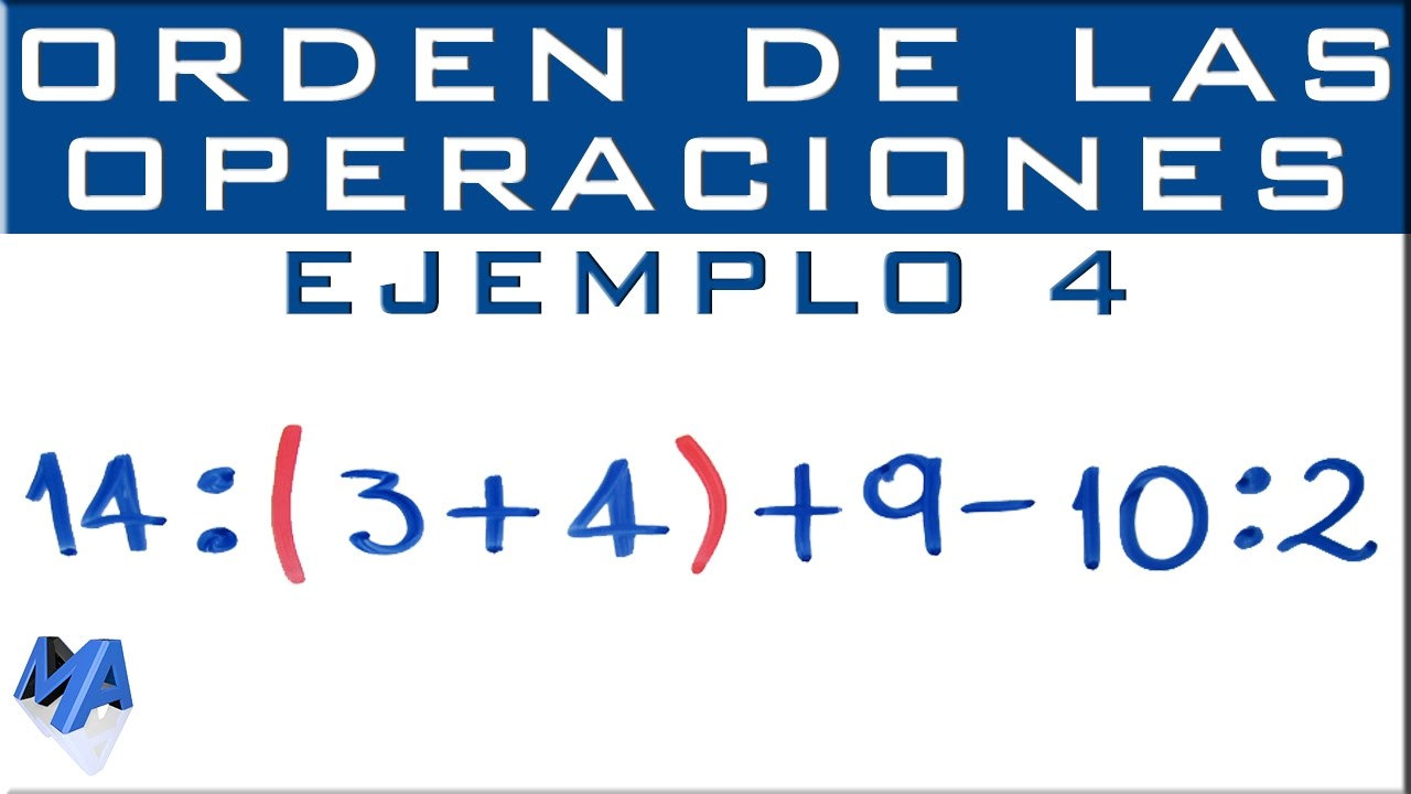 Operaciones combinadas   Suma, resta, multiplicación, división,  potenciación   Ejemplo 4