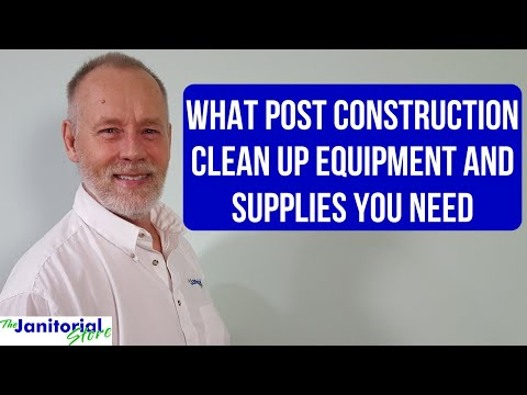 Post Construction Equipment And Supplies List
