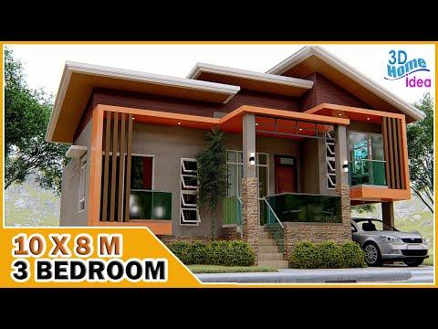 Download 10X8 METERS | MODERN SPLIT LEVEL HOUSE | 3 Bedroom with Balcony