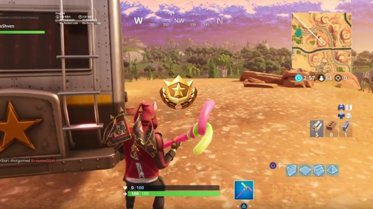 Search Between An Oasis Rock Archway And Dinosaurs Location Fortnite Season  Challenges