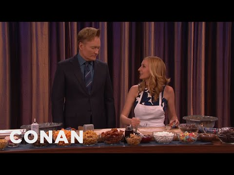 Pastry Chef Christina Tosi & Conan Make Grocery Rolls & Crackle  - CONAN on TBS