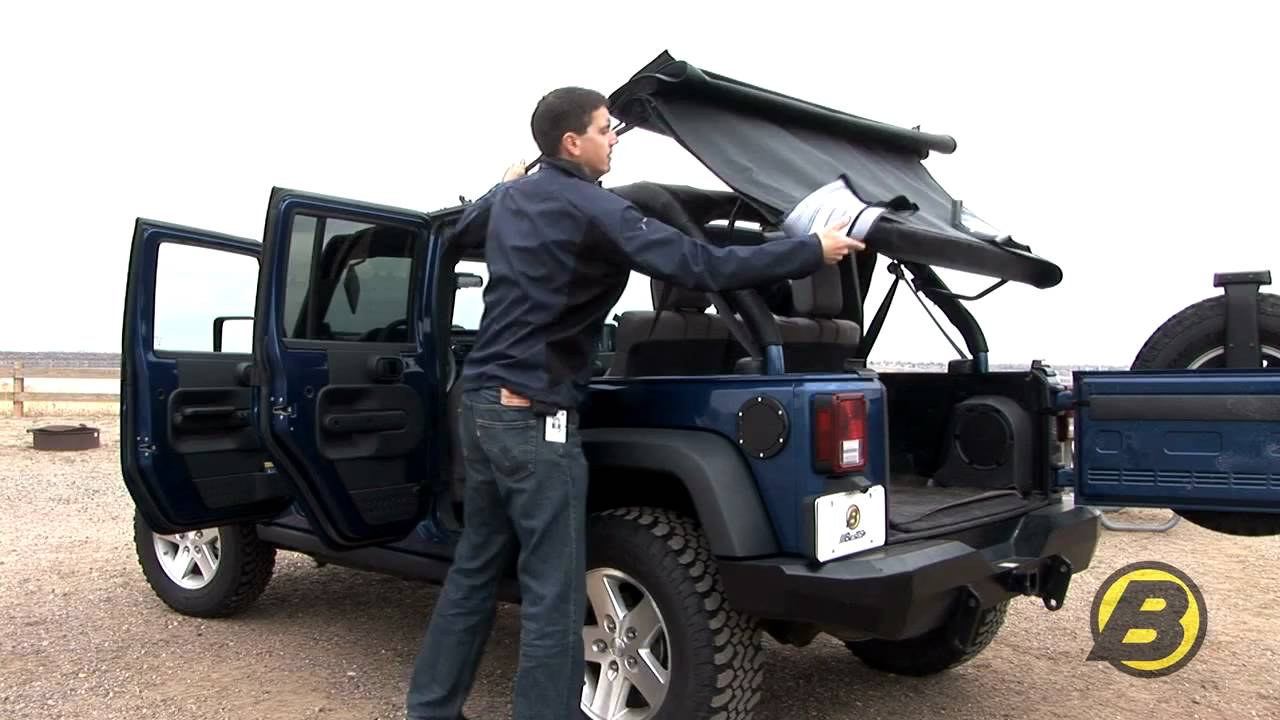 Jeep Wrangler Unlimited Soft Top >> Bestop - How to get the most from your Jeep soft top - YouTube