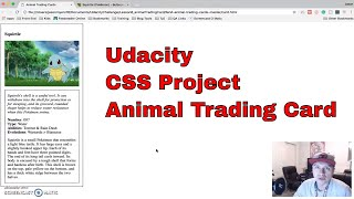 Udacity - CSS Project - Animal Trading Card