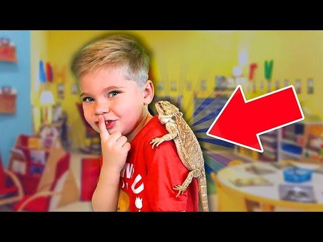 Sneaking My Bearded Dragon Into School! 🤫