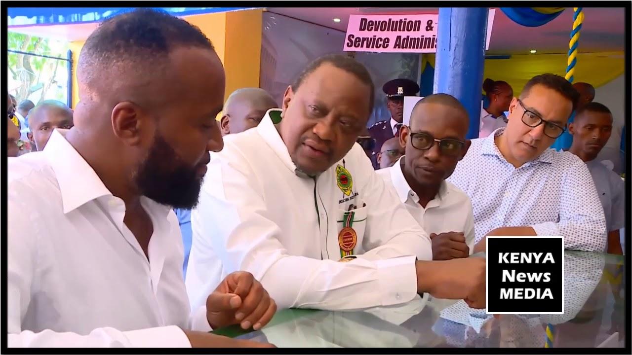 President Uhuru Kenyatta Tours Stalls at the ASK Mombasa Show