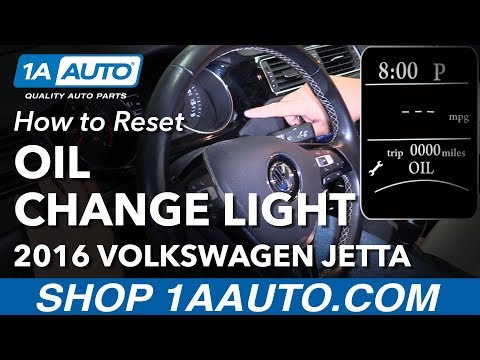 How to Reset Oil Change Light 11-18 Volkswagen Jetta