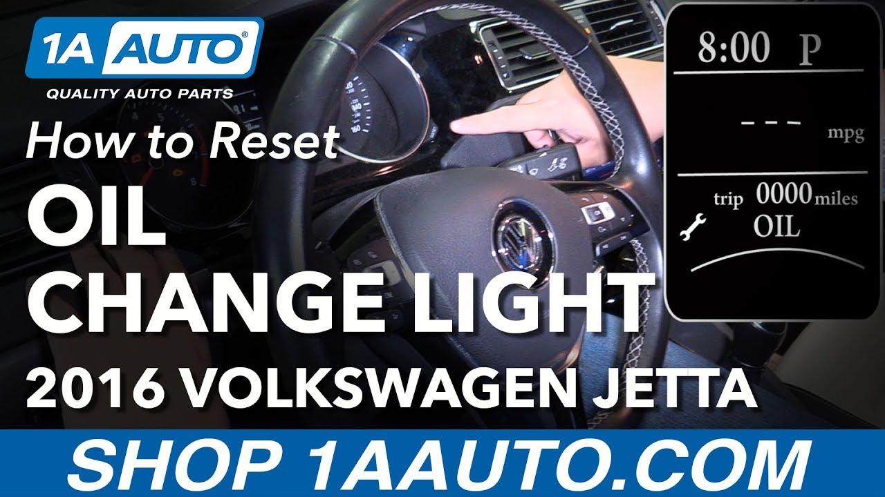 How to Reset Oil Change Light 11-18 Volkswagen Jetta