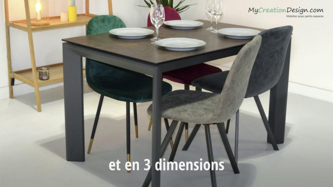 Table En Ceramique Extensible Pour Les Petits Espaces Masta Youtube