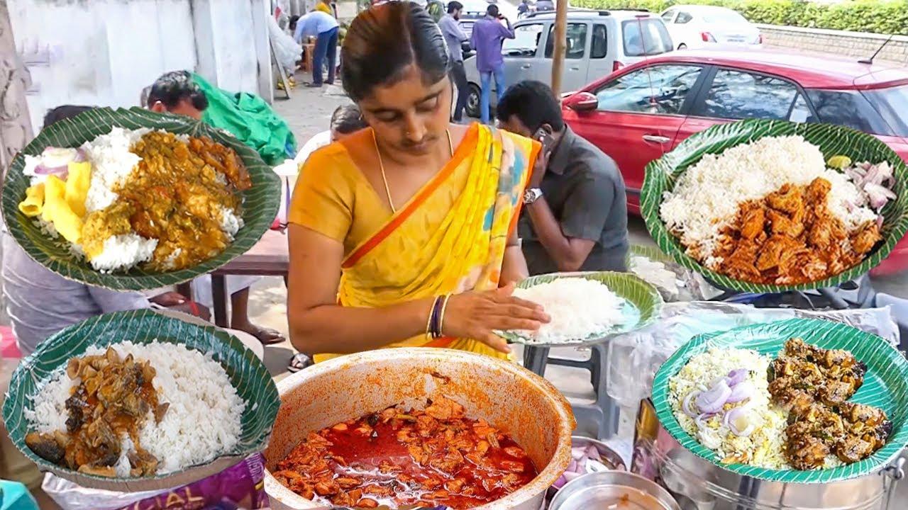 Download Cheapest RoadSide Unlimited Meals   Indian Street Food   #Meals #Vegmeals #NonVegMeals