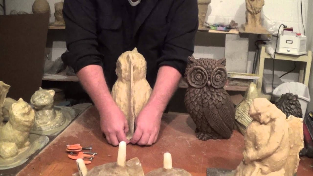 How To Make Concrete Statuary With Rubber U0026 Fiberglass Molds. Pt. 4  Molds  With Seams   YouTube