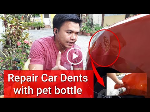 EXTREMELY LARGE dent repair on a Toyota Wigo | Using Glue stick, pet bottle and a candle 😆