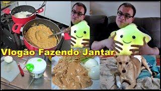 🍲Vlogão Preparando o Jantar Strogonoff de Frango Cremoso🍛Salada e Comprinhas😍com Déby & Ian👧👦