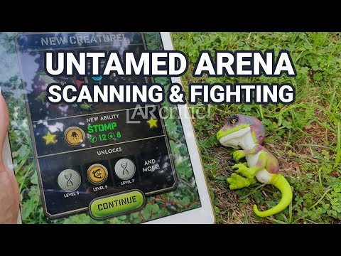 Untamed Arena Gameplay + Scanning Dino Toys (Commentary)