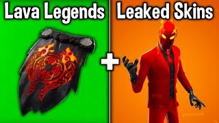 "NEW ""LAVA LEGENDS"" PACK! All Leaked Skins + Cosmetics! (Fortnite Battle Royale)"