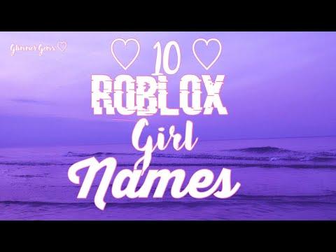 10 Roblox Girl Names Youtube