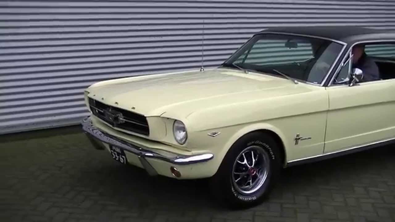 Ford mustang 1965 a code v8 289 cui luxury modell video www erclassics com