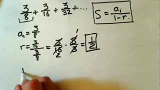 Sum of infinite geometric series