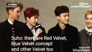 EXO Sehun mentioned Red Velvet on MAMA 2016 Cathie TgBoivin
