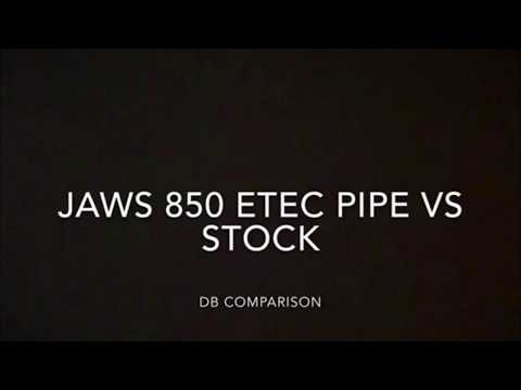 JAWS 850 ETEC PIPE/STOCK MUFFLER - JAWS Performance - Snowmobile Cans, Race & Trail Pipes