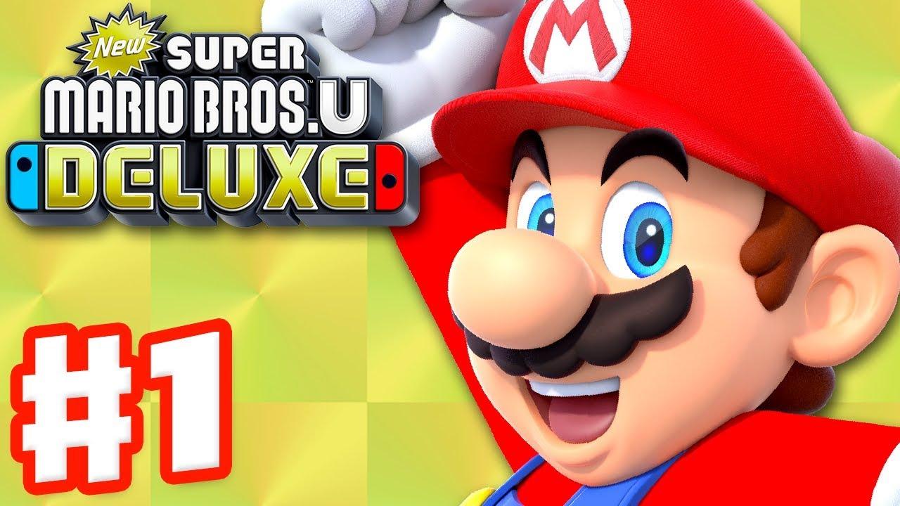 New Super Mario Bros U Deluxe Gameplay Walkthrough Part 1