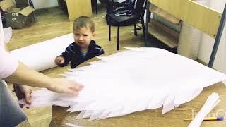 відео урок як зробити крила ангела