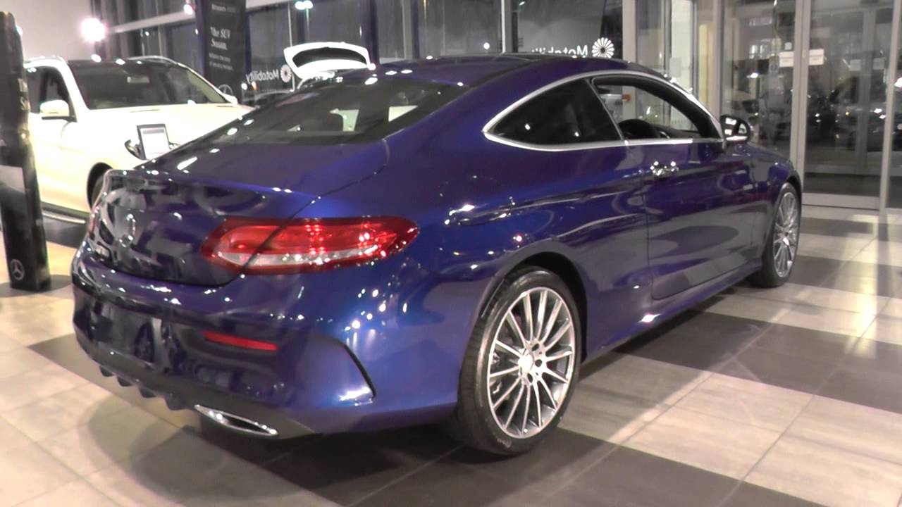 mercedes benz c class coupe 2015 c 220 d amg line coupe u24318 youtube. Black Bedroom Furniture Sets. Home Design Ideas