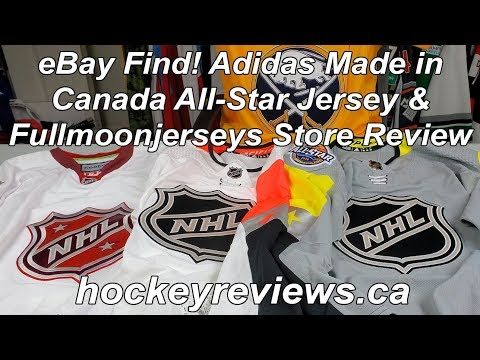EBay Finds! Full Moon Jerseys Adidas Made In Canada NHL All-Star Jerseys & Store Review