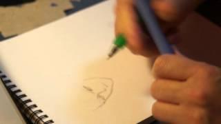 炎の蜃気楼の高坂のラフを描いてる動画です。しかしちょっと失敗しまして、持ってる消しゴムが邪魔になっております(^^;)すみません。