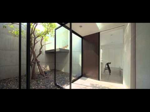L shaped modern home design architecture youtube for Home architecture you tube